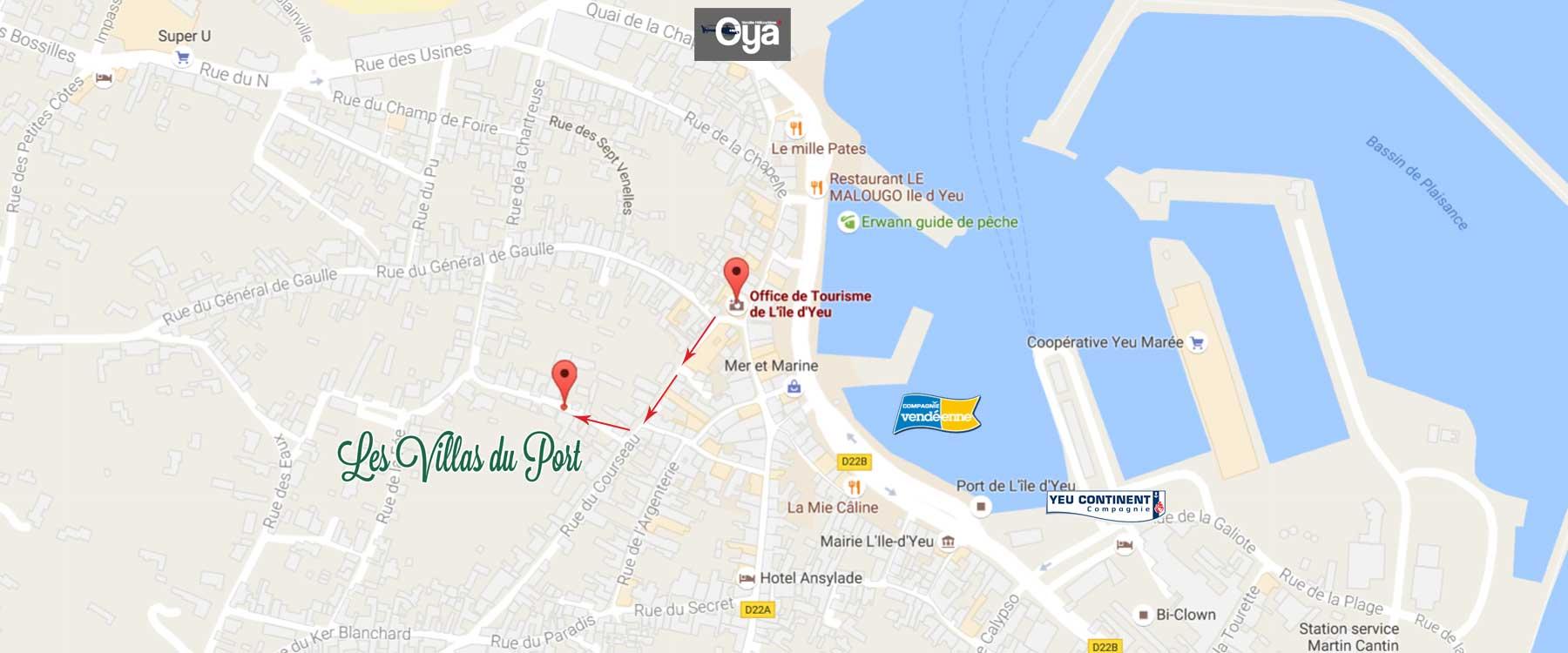 Locasition des chambres d 39 hotes des villas du port sur l 39 ile d 39 yeu vend e - Ile d yeu chambre d hote ...